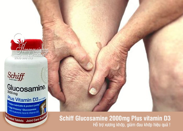 Schiff Glucosamine 2000mg Plus vitamin D3 150 Viên Của Mỹ 34