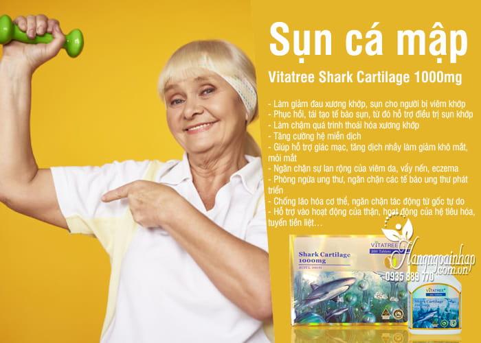 Sụn cá mập Vitatree Shark Cartilage 1000mg bổ xương khớp 2
