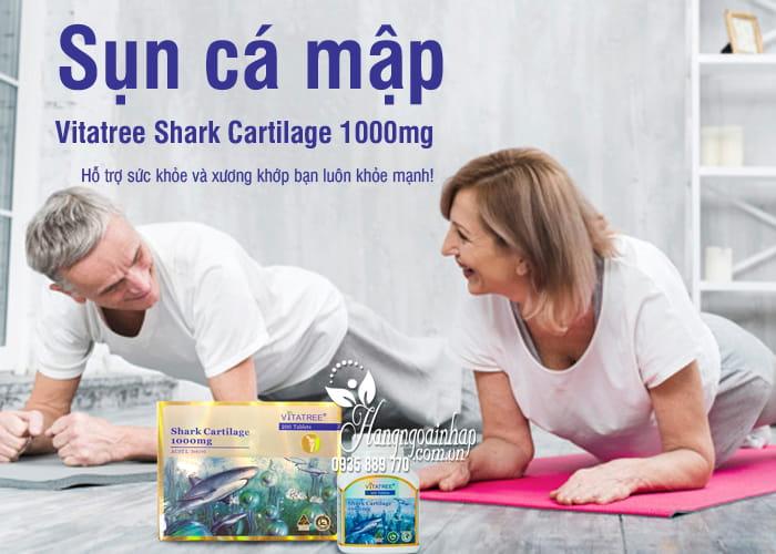 Sụn cá mập Vitatree Shark Cartilage 1000mg bổ xương khớp 1