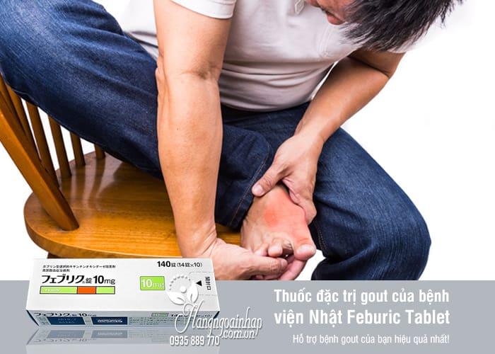 Thuốc đặc trị gout Feburic Tablet 10mg của Nhật Bản 140 viên 1