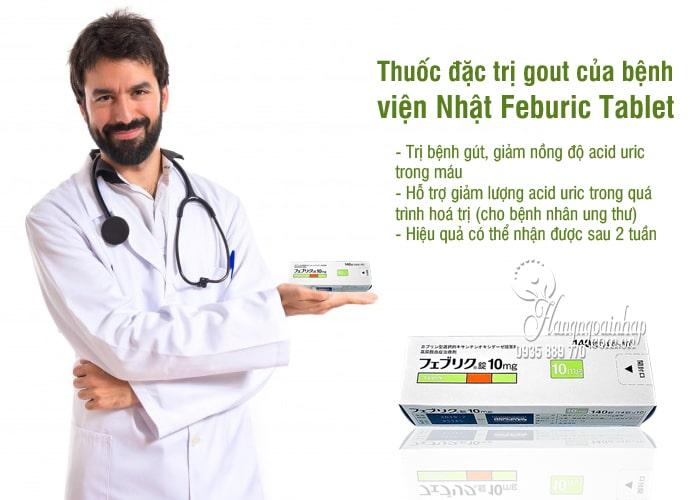 Thuốc đặc trị gout Feburic Tablet 10mg của Nhật Bản 140 viên 2