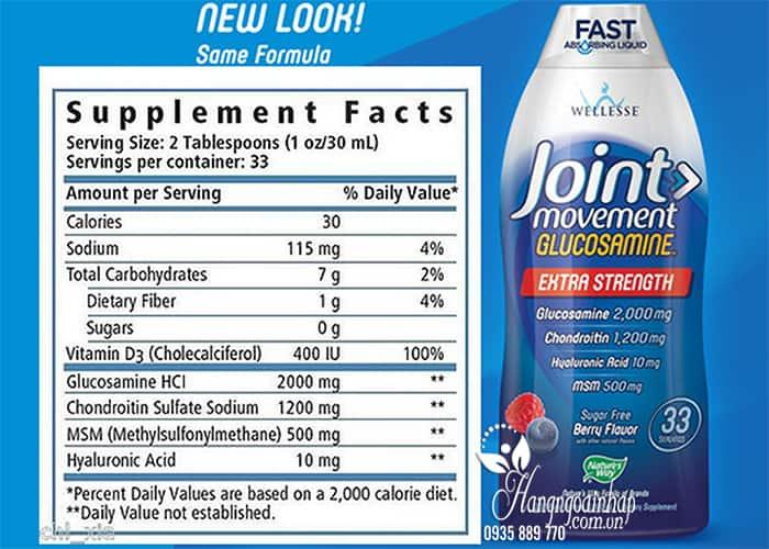 Thuốc Glucosamine dạng nước Wellesse Joint Movement 1000ml của Mỹ 5
