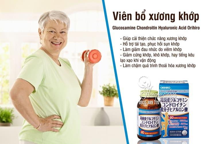 Viên bổ xương khớp Glucosamine Chondroitin Hyaluronic Acid Orihiro 3