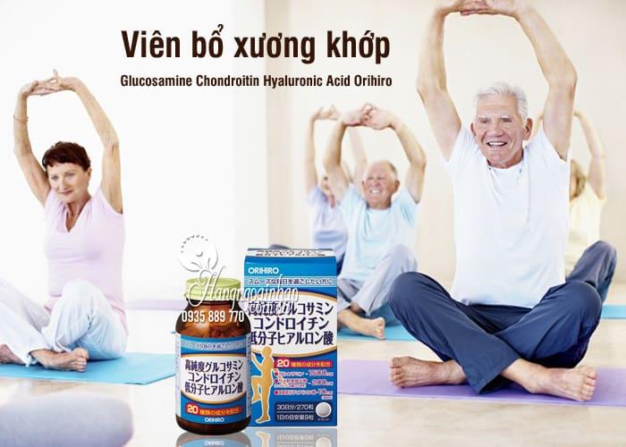 Viên bổ xương khớp Glucosamine Chondroitin Hyaluronic Acid Orihiro 8