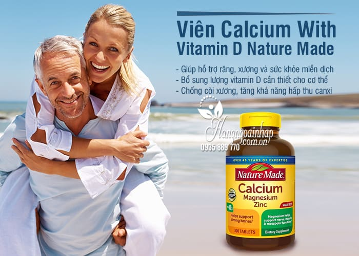 Viên Calcium With Vitamin D Nature Made 300 Viên Của Mỹ 78