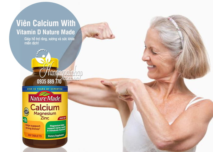 Viên Calcium With Vitamin D Nature Made 300 Viên Của Mỹ 7