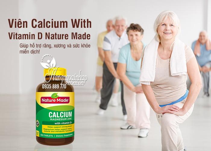 Viên Calcium With Vitamin D Nature Made 300 Viên Của Mỹ 9