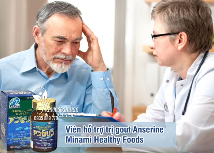 Viên hỗ trợ trị gout Anserine Minami Healthy Foods 240v Nhật 7
