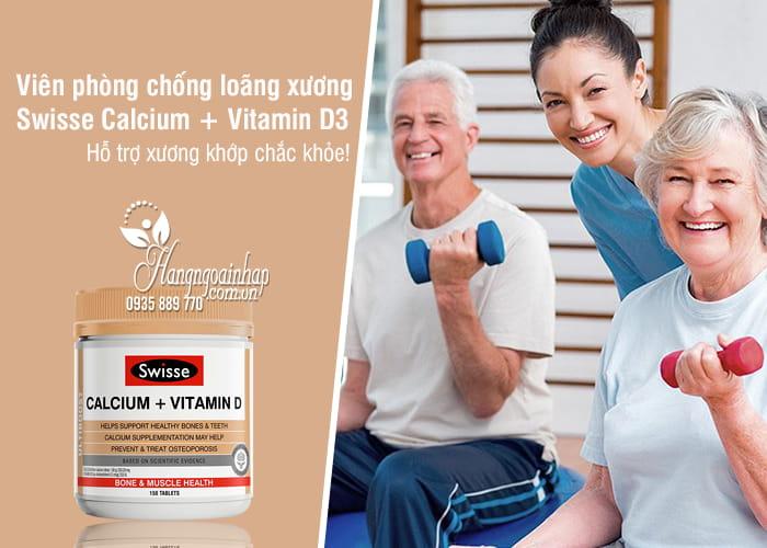 Viên phòng chống loãng xương Swisse Calcium + Vitamin D3 Úc 1