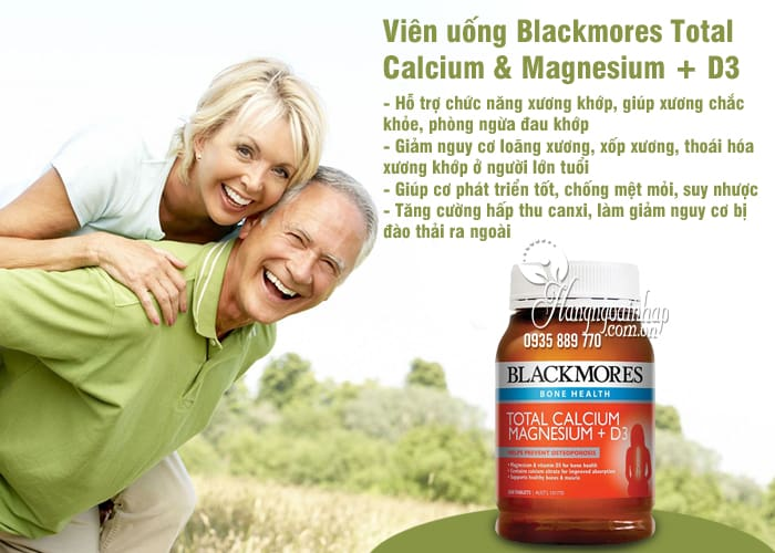 Viên uống Blackmores Total Calcium & Magnesium + D3 Úc 1