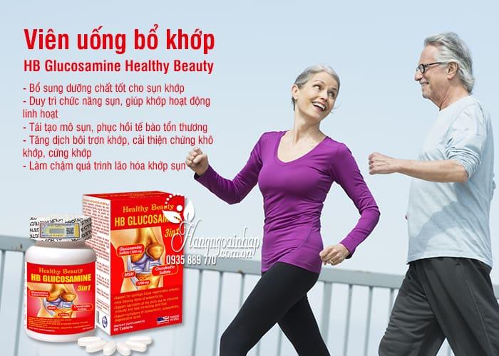Viên uống bổ khớp HB Glucosamine Healthy Beauty của Mỹ 7