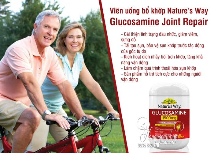 Viên uống bổ khớp Nature's Way Glucosamine 1500mg Joint Repair 4