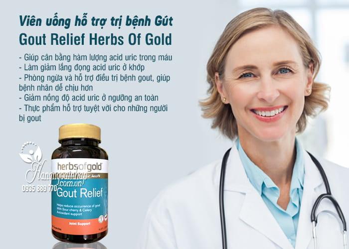 Viên uống hỗ trợ trị bệnh Gút Gout Relief Herbs Of Gold Úc 6