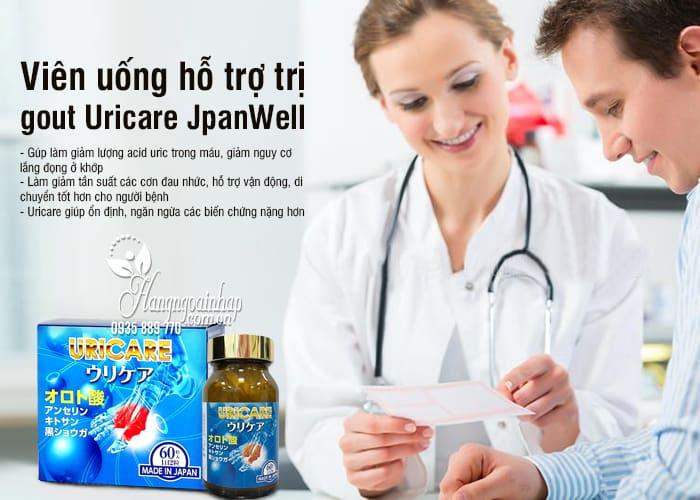 Viên uống hỗ trợ trị gout Uricare JpanWell 60 viên Nhật Bản 7