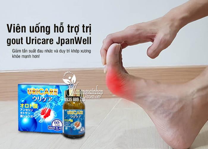 Viên uống hỗ trợ trị gout Uricare JpanWell 60 viên Nhật Bản 3