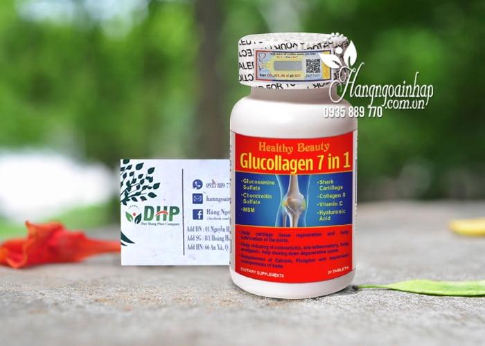 Viên uống hỗ trợ xương khớp Glucollagen 7 in 1 Healthy Beauty 9