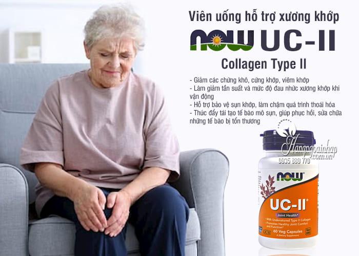 Viên uống hỗ trợ xương khớp Now UC-II Collagen Type II của Mỹ 8