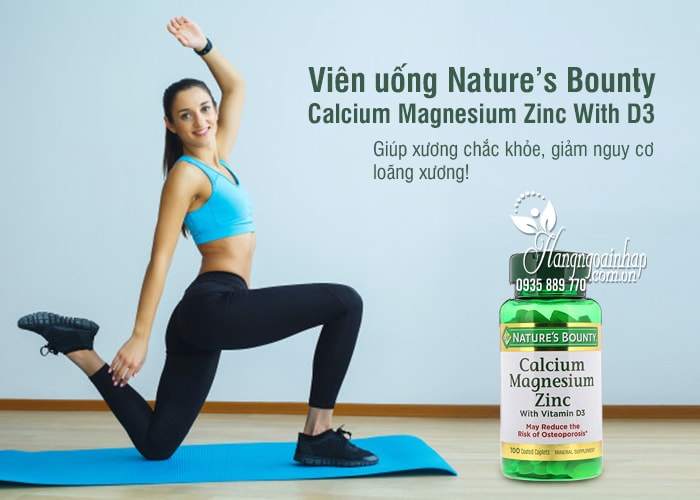 Viên uống Nature's Bounty Calcium Magnesium Zinc With D3 2