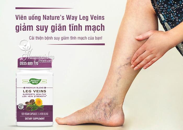 Viên uống Nature's Way Leg Veins giảm suy giãn tĩnh mạch 1