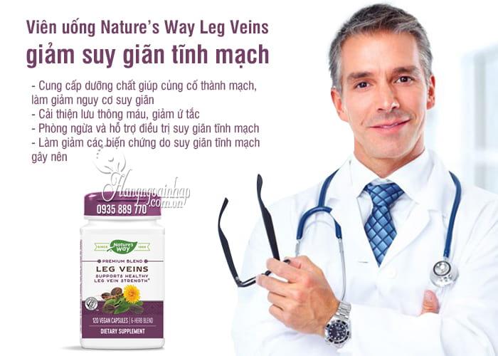 Viên uống Nature's Way Leg Veins giảm suy giãn tĩnh mạch 4