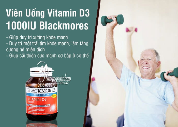 Viên Uống Vitamin D3 1000IU Blackmores Của Úc 60, 200 viên 2