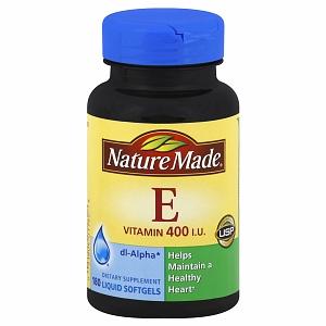 Viên Nang Vitamin E 100% Thiên Nhiên 400 IU Nature Made Của Mỹ