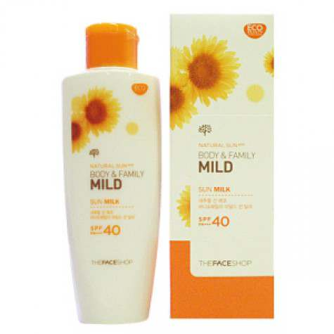 Kem Chống Nắng Natural Sun Body & Family Mild Sun Milk The Face Shop