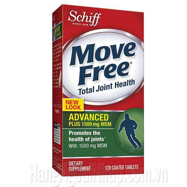 Schiff Move Free Advanced Plus 1500mg MSM 120 Viên - Mẫu Mới
