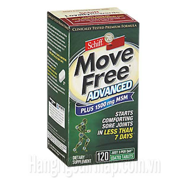 Schiff Move Free Advanced Green Plus 1500mg MSM 120 Viên Mẫu Mới