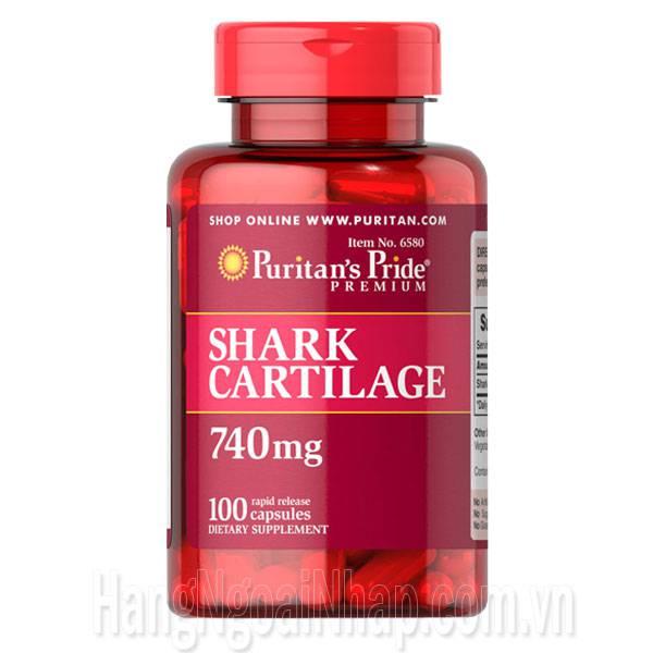Sụn Vi Cá Puritan's Pride Shark Cartilage 740mg 100 Viên