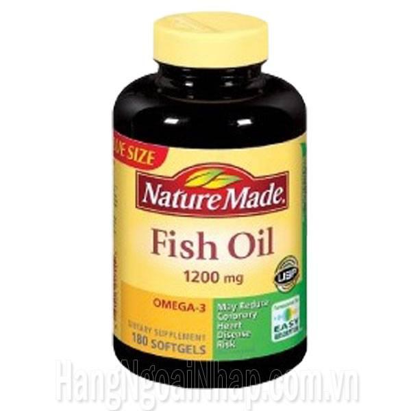 D u c nature made fish oil omega 3 1200mg 180 vi n dhp for Sam s club fish oil