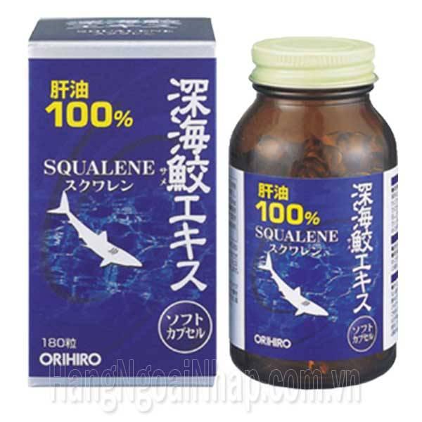 2.Sụn Vi Cá Mập Squalene Orihiro 180 Viên Của Nhật