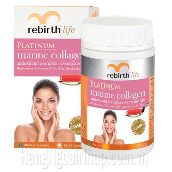Viên Uống Chống Lão Hoá Collagen Rebirth 60 Viên Của Úc