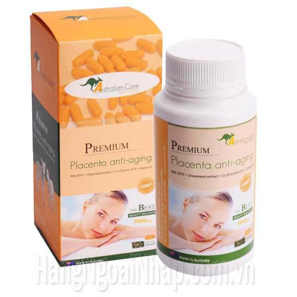 Nhau Thai Cừu Premium Placenta Anti-Aging 90 Viên Của Úc
