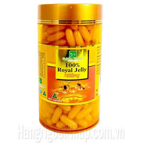 Sữa Ong Chúa Úc Golden Health Royal Jelly 1600mg 365 Viên