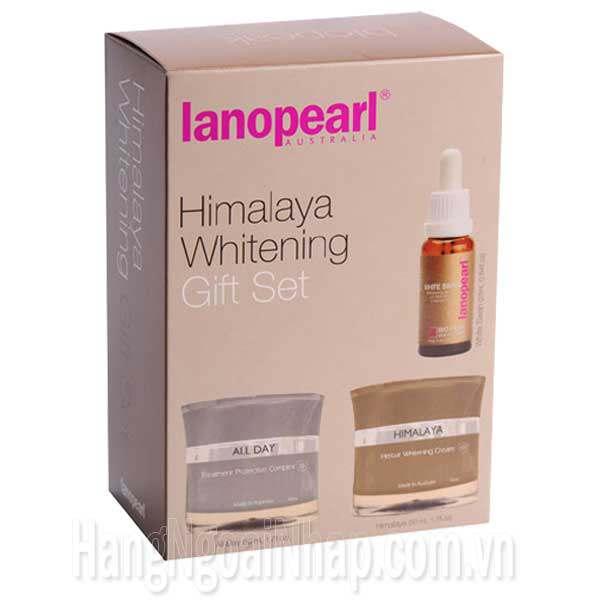 Bộ Trị Nám Làm Trắng Da Lanopearl Himalaya Whitening Gift Set
