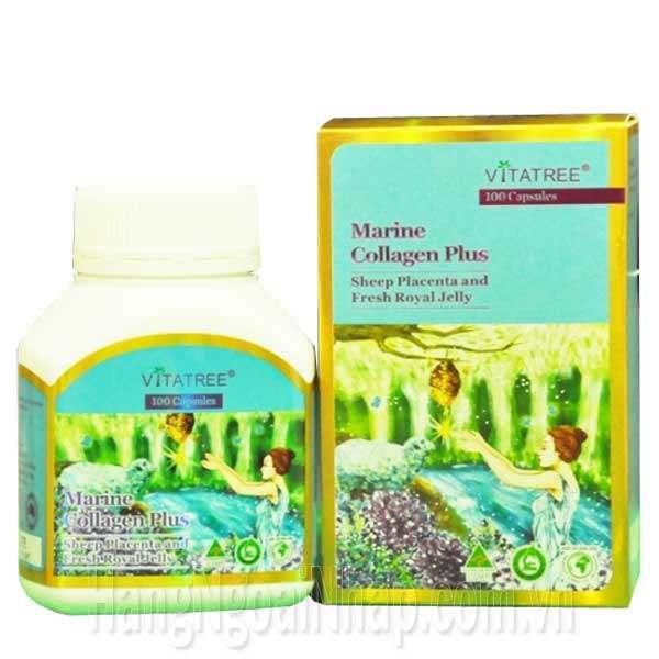 Viên Uống Đa Năng Marine Collagen Plus Vitatree Của Úc