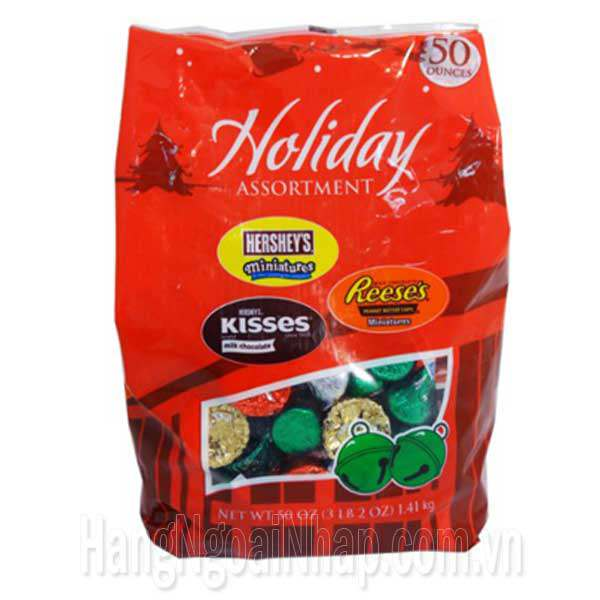 Chocolate Hershey Holiday Assortment Gói 1.41kg