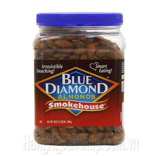 Hạt Hạnh Nhân Hun Khói Blue Diamond Almonds Smokehouse