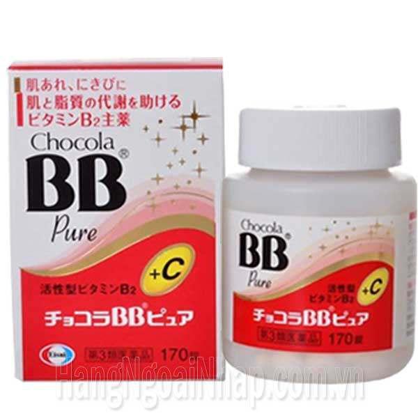 Viên Thuốc Trị Mụn Chocola BB Pure + C Hộp 170 Viên