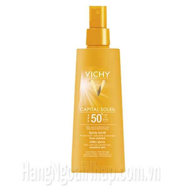 Kem Chống Nắng Vichy Capital Soleil SPF 50+ Dạng Xịt 200ml