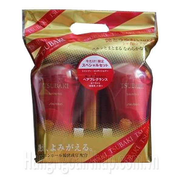 Dầu Gội Shiseido Tsubaki Màu Đỏ Bộ 3 Của Nhật