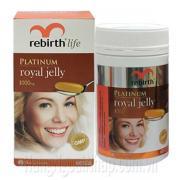 Sữa Ong Chúa Rebirth Life Platinum Royal Jelly 1000mg 60 Viên