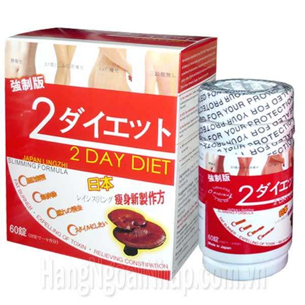 Thuốc Giảm Cân 2 Day Diet Của Nhật - Chiết Xuất Từ Nấm Linh Chi