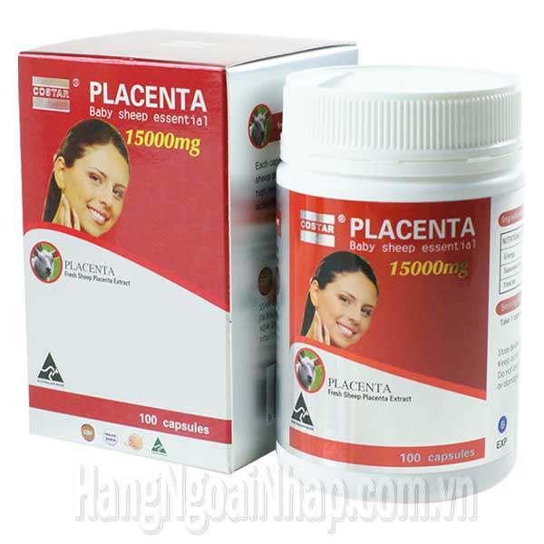 Nhau Thai Cừu Placenta Costar Của Úc 15000mg 100 Viên