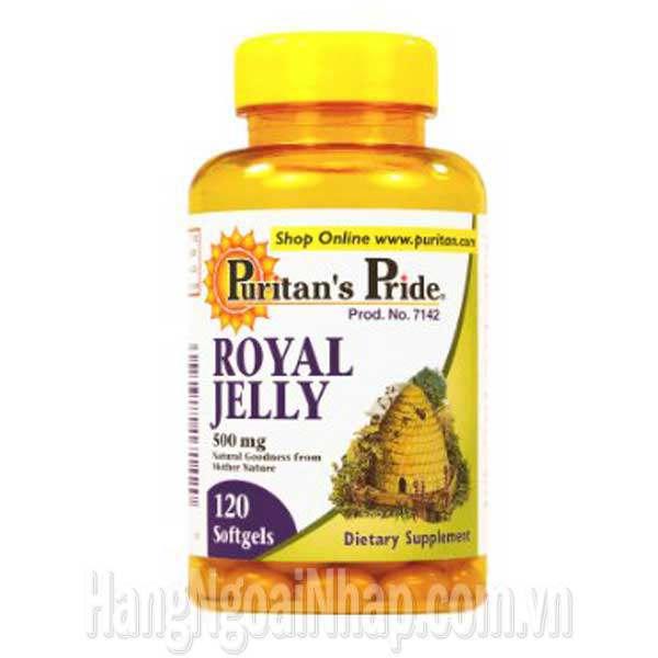 Sữa Ong Chúa Mỹ Royal Jelly 500mg Puritan's Pride 120 Viên