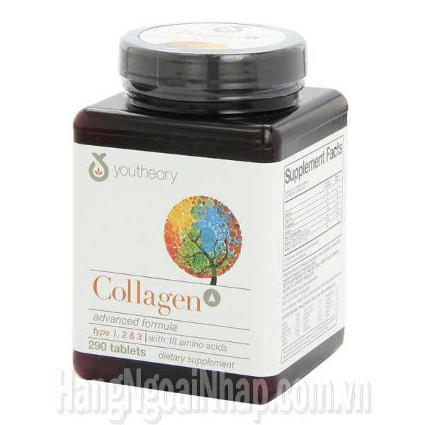 """Collagen youtheory type 1 2 & 3 290 viên """"chính hãng"""" của Mỹ"""