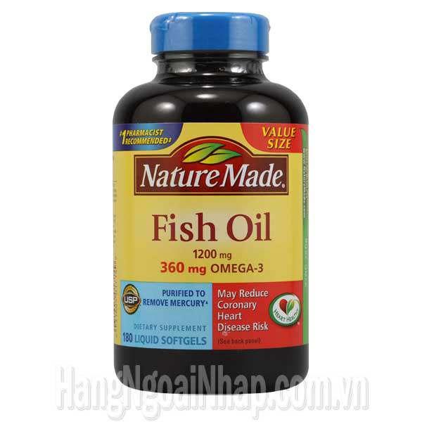D u c fish oil omega 3 1200mg nature made c a m ch nh for Sam s club fish oil