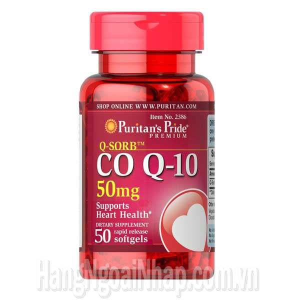 CoQ10 50mg Puritan's Pride Premium 50 Viên
