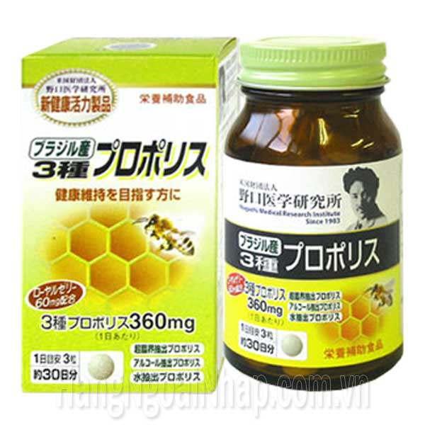 Keo Ong Kết Hợp Sữa Ong Chúa Propolis Noguchi 360mg